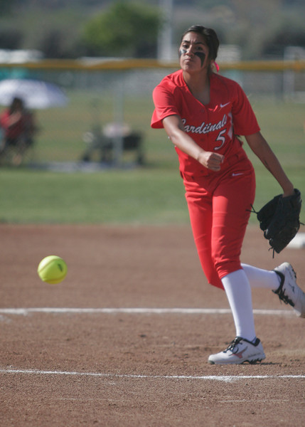 The Lindsay Cardinals played host to the Woodlake Tigers in high school softball on Friday, March 21, 2014.