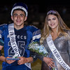 Farmersville Homecoming King and Queen are all smiles during the halftime festivities during the Aztecs homecoming game versus the Yosemite Badgers.