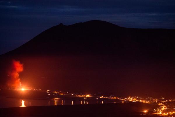 """the bonfires of St. John, Dooagh Village"""