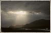 """crepuscular rays over Dooagh while walking to Gubelenaun"""