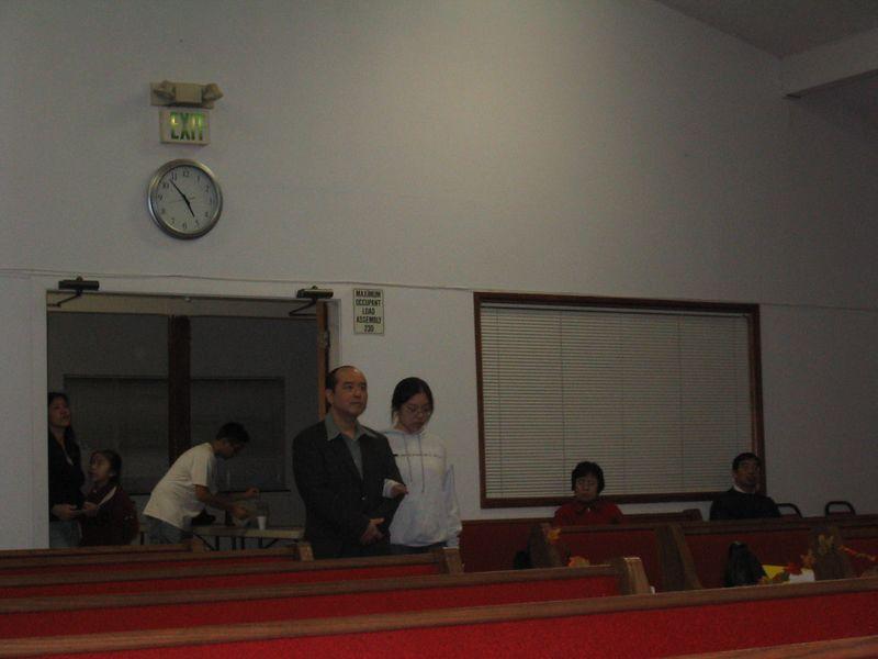 2004 11 19 Friday - Rehearsing their entrance