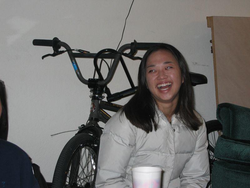 Theresa & bike, 2-9-2003