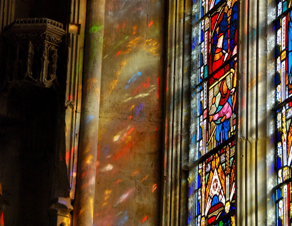 """December<br /> <br /> """"Through a Glass Brightly""""<br /> Ely Cathedral<br /> Ely, England"""