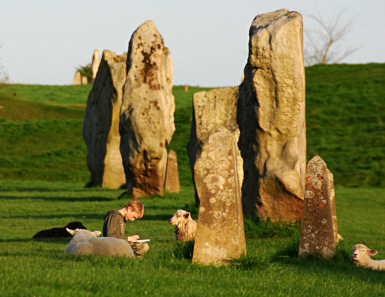 "March<br /> <br /> ""Companionship""<br /> Circle of Standing Stones<br /> Avebury, England"