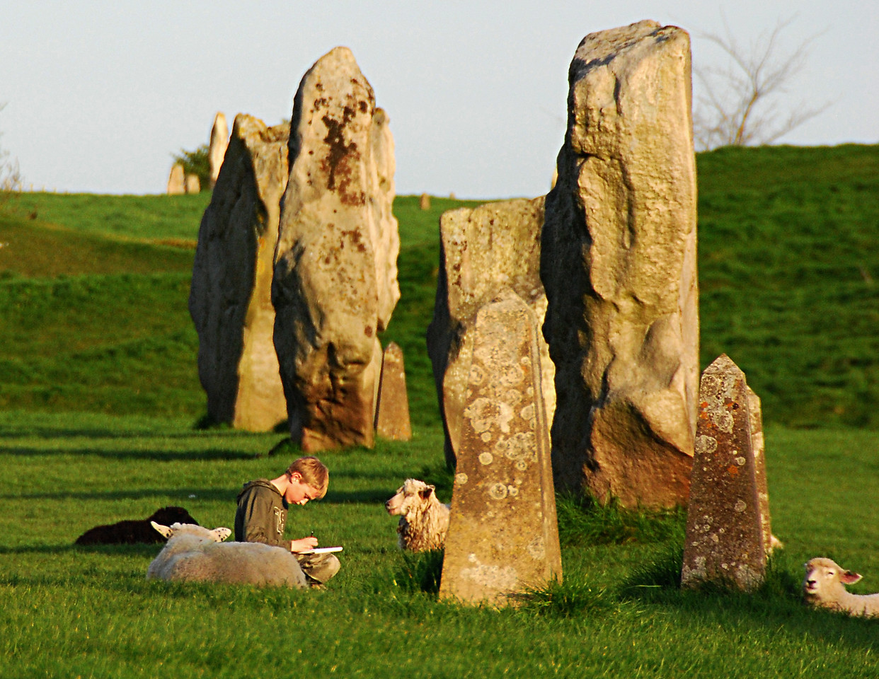 """March<br /> <br /> """"Companionship""""<br /> Circle of Standing Stones<br /> Avebury, England"""