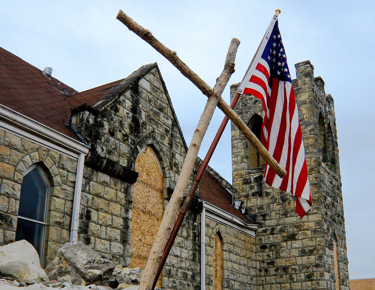 "July<br /> <br /> ""Resilience of Spirit""<br /> Damage from June 2008 Tornado<br /> Chapman, Kansas"