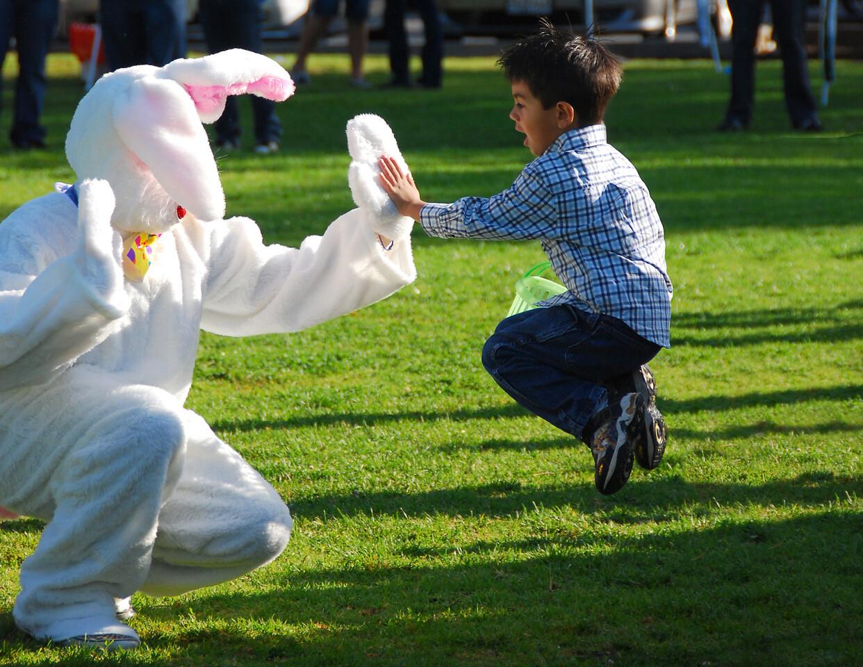 """April<br /> <br /> """"Exuberance""""<br /> Annual Easter Egg Hunt<br /> Culver City, California"""