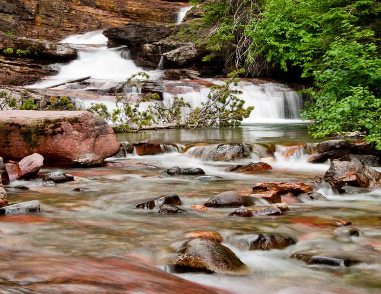 October<br /> <br /> Base of Virginia Falls<br /> Glacier National Park, MT