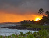 August<br /> <br /> Sunset over Lawa'i Bay<br /> Po'ipu, Kaua'i, HI