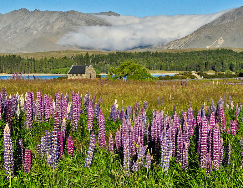 Lakeside Church of the Good Shepherd<br /> Lake Tekapo, New Zealand