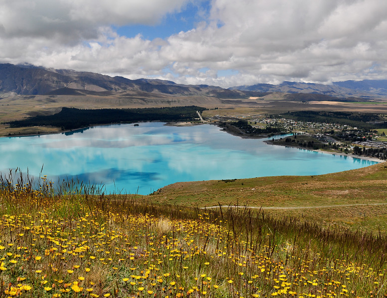 Lake Tekapo from the Mount John Observatory<br /> New Zealand