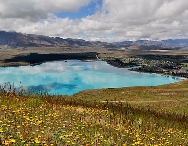 Lake Tekapo from the Mount John Observatory New Zealand