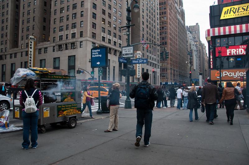 busy street corner