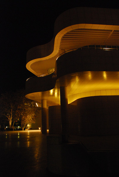 Getty at night