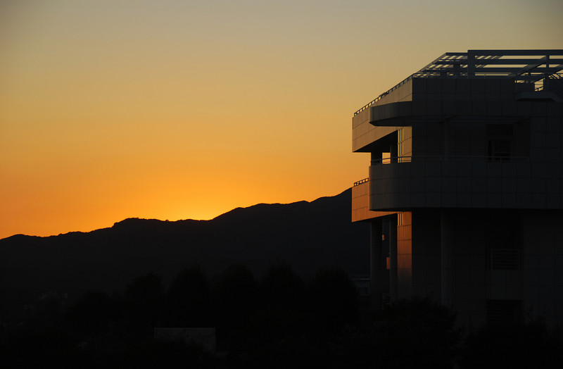 Getty sunset