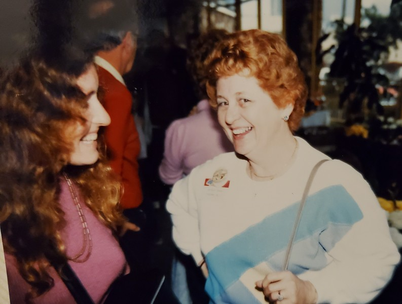 Birthmom Shirley, probably  mid 1980s.  Check out our matching noses.