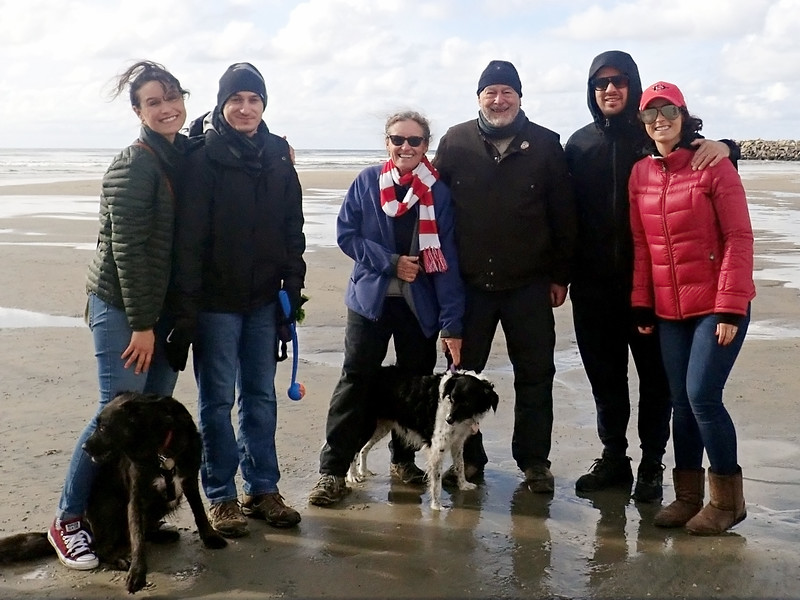Christmas Eve at the beach, our go-to holiday photo  2019