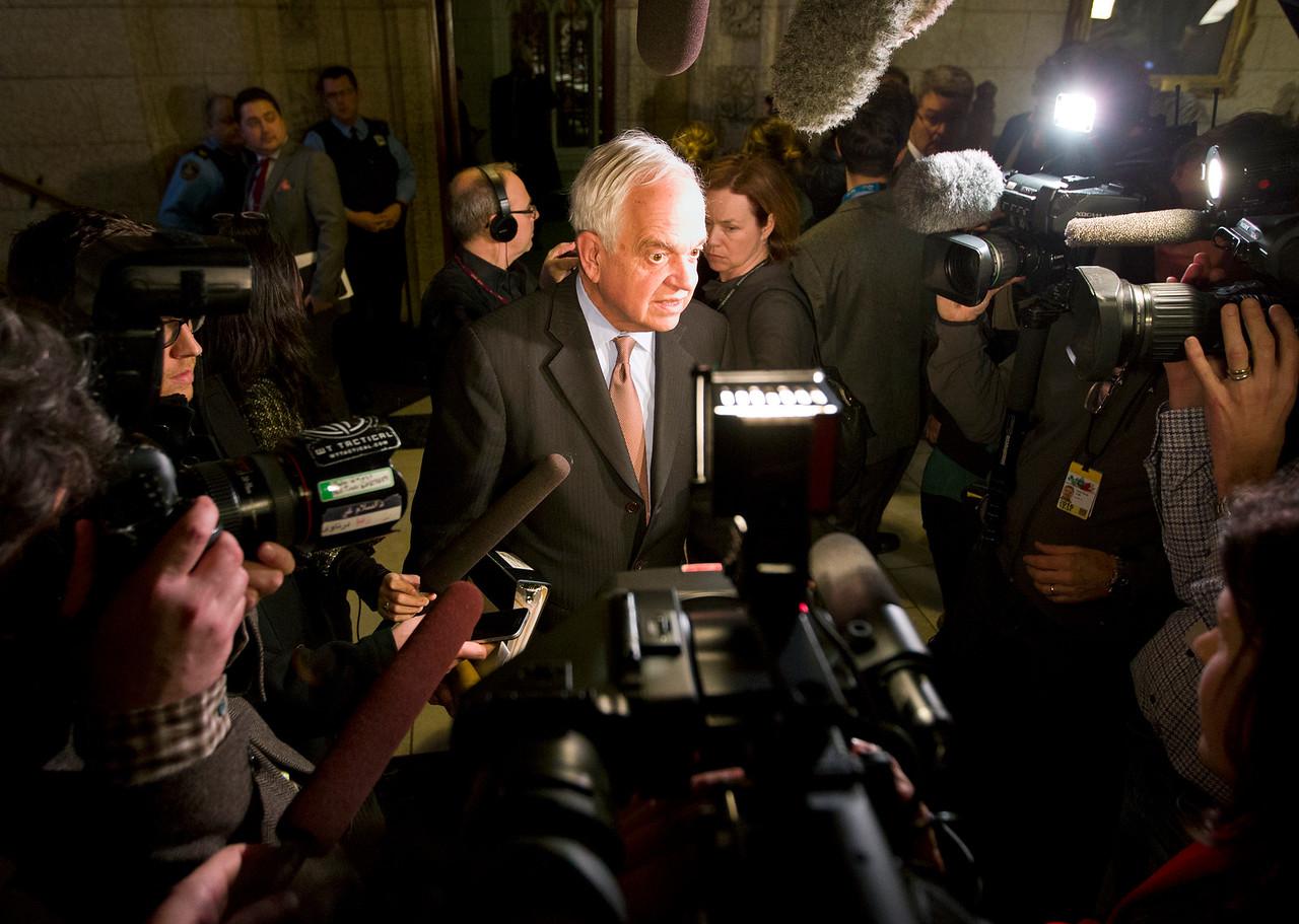 Immigration John McCallum is scrummed, Wednesday, February 3, 2016 in Ottawa. Photo/Fred Chartrand