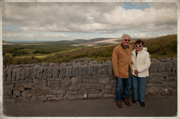 mom, dad, & my white sunglasses, Corkscrew Hill, County Clare, Ireland 2012