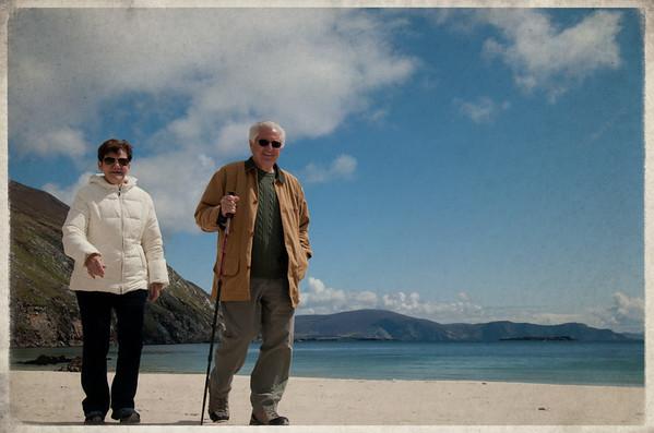 mom & dad, Keem Beach, Achill Island 2012