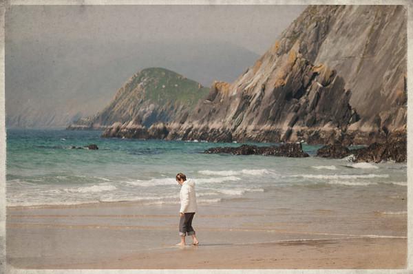 mom experiences the big chill, Slea Head, County Kerry, Ireland 2012