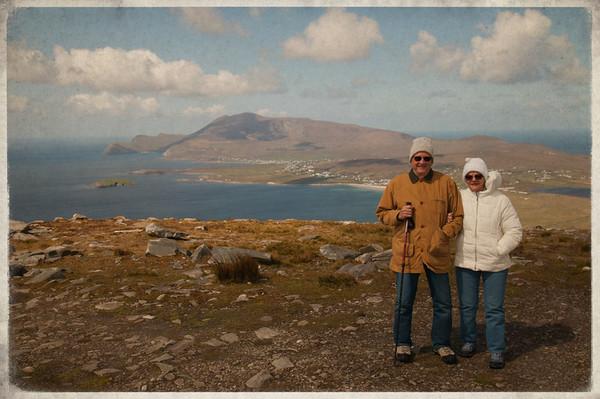 mom & dad, top of Minaun, Achill Island 2012