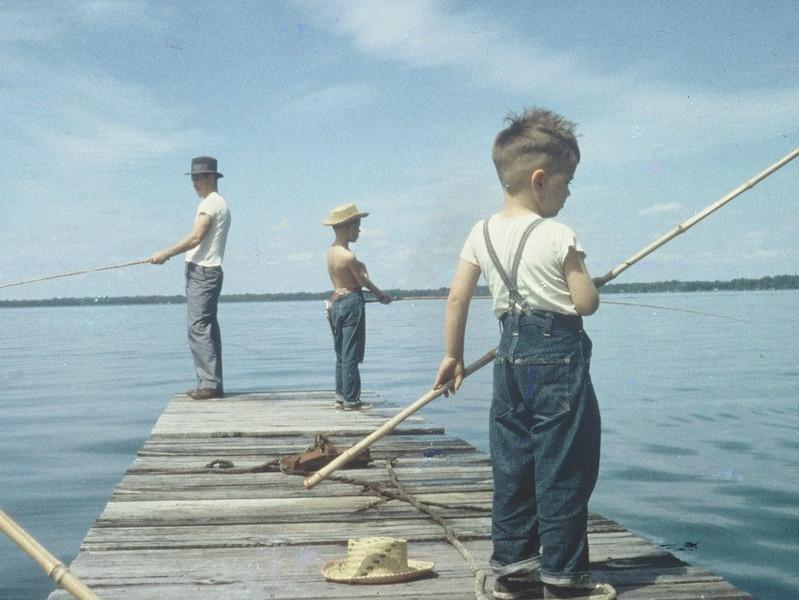 29 Boys  Fishing on Dock TEST