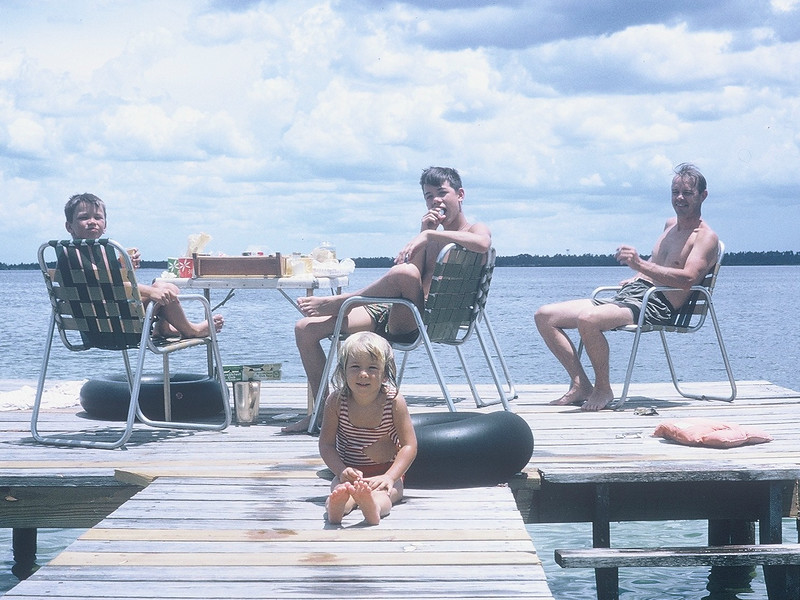 29 Dad and kids on dock