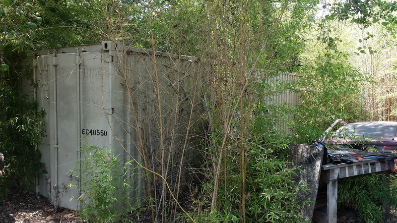 MAY be SOLD.. guy has given me a small down payment for this - - 40' x 8' x 8' shipping container for sale... needs some repair, but minor..$1,000 AS IS...Doors/hinges work fine..