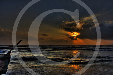 The Golden Sunrise @ Marina Beach