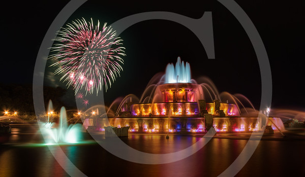 Fireworks at Buckingham Fountain
