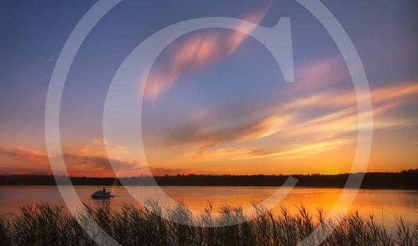 Sunset by the Lake, Michigan Wilderness