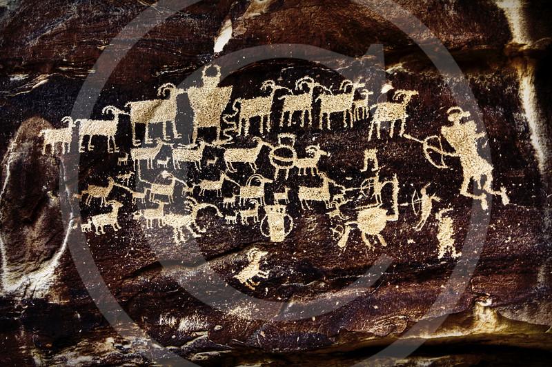 Fremont Petroglyph - Hunters Panel