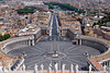 Rome from St Peter's Basillica - Rome Italy<br /> <br /> St Peter's Square and Rome spread out below in this shot from the top of St Peter's.