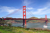Golden Gate Bridge - San Francisco California<br /> <br /> The Golden Gate makes a beauitful backdrop on this sunny Spring day.