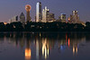 Trinity River Reflection - Dallas Texas <br><br> The downtown Dallas Skyline is reflected in the swollen Trinity River in this classic capture of Dallas.
