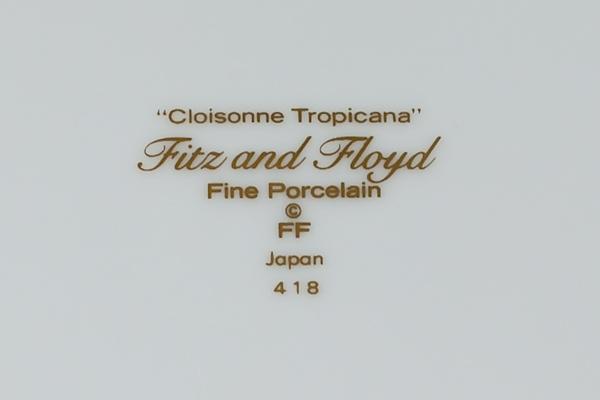 Cloissone Tropicana, Fitz and Floyd, Japan, 418