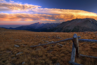 """Mountain Sunset""  Rocky Mountain National Park, CO  The sunsets along the Trail Ridge Road in Rocky Mountain Park can be truly amazing in the Fall. Technical Details: Shot with a Canon 5dMk2 and 20mm lens."