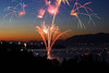 """""""Independence Day"""" <br><br> Flathead Lake, MT<br><br> I love fireworks!  Ever since I was a kid I loved the celebrating the 4th of July and experiencing the excitement of fireworks.  As I have grown older I have found a new way to experience fireworks by capturing them with my camera.  I shot this image a few years back while visiting my family in Montana.  I camped out at this spot for 2 hours to secure this view.<br><br> Technical Details: Shot with Canon 30D and Canon 20mm lens at F10 and 10 seconds."""