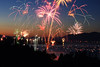 """Independence Day"" <br><br> Flathead Lake, MT<br><br> I love fireworks!  Ever since I was a kid I loved the celebrating the 4th of July and experiencing the excitement of fireworks.  As I have grown older I have found a new way to experience fireworks by capturing them with my camera.  I shot this image a few years back while visiting my family in Montana.  I camped out at this spot for 2 hours to secure this view.<br><br> Technical Details: Shot with Canon 30D and Canon 20mm lens at F10 and 10 seconds."