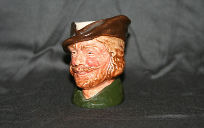 "Royal Doulton Miniature Character Jug - Robin Hood, 1st Version.  Approx 2 1/2"" tall.  There are a couple other shots in gallery including the bottom mark.  Have a blessed day!"