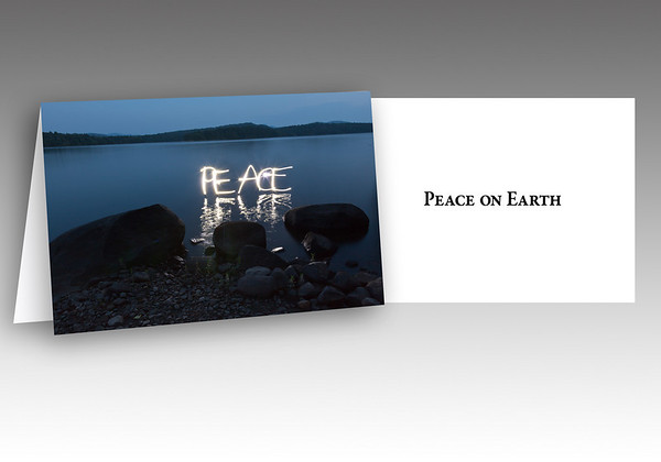"<h2>Holiday Card</h2>Who doesn't want Peace on Earth? We all do!  <br><br> Send your best holiday wishes to friends and family with this beautiful 5x7 folded card. <br><br> These cards come in a sleek black box, complete with envelopes. <br><br> To order, please click <a href=""http://davidrosenthal.smugmug.com/For-Sale/CardsToPrint/HolidayCard10print/13717026_CTECb""target=_blank>here</a>."