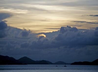 Stormy sunset, St. John