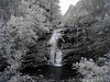 Infrared photo of Bald River Falls TN.