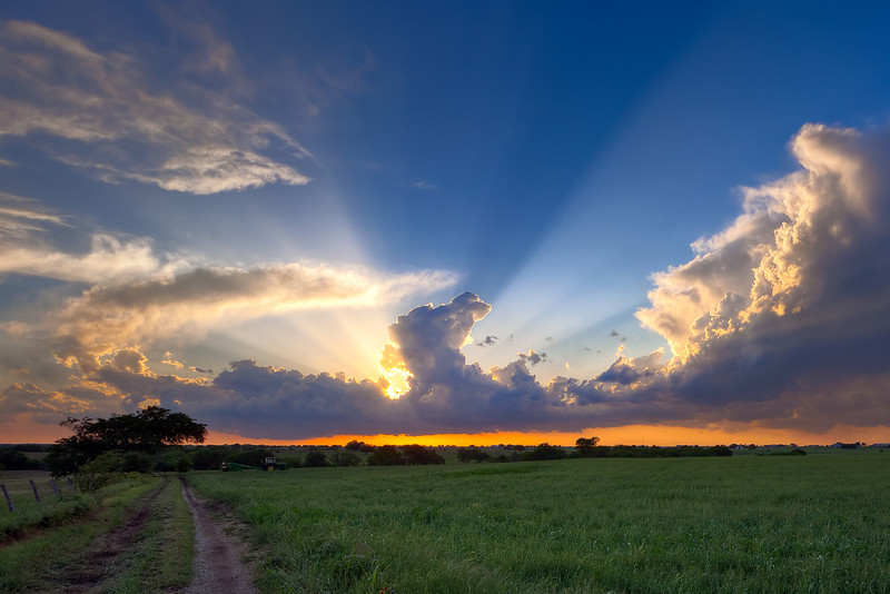 """""""West Texas Sunset"""" <BR><BR> Muenster, TX<BR><BR>  <BR><BR> Technical Details: Shot with Canon 5D MK2 and Canon 10-22mm lens at F10 and 1/8. <BR><BR> <br><center><a href=""""javascript:addCartSingle(ImageID, ImageKey)""""><img src=""""/photos/604338366_ecXJp-M.gif"""" border=""""0""""></a></center>"""