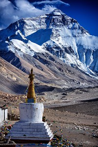 Mt. Everest and Temple