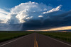 """""""Middle of the Road"""" <BR><BR> Malta, MT<BR><BR> A small supercell storm is illimuniated by the late day sun near the town of Malta, MT..<BR><BR> Technical Details: Shot with Canon 5D MK2 and Canon 24-70L lens at F10 and 1/60 seconds. <BR><BR> <br><center><a href=""""javascript:addCartSingle(ImageID, ImageKey)""""><img src=""""/photos/604338366_ecXJp-M.gif"""" border=""""0""""></a></center>"""