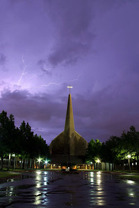 Lightning over Richardson Baptist Church (2004) - I captured this as a weak storm moved in from the NorthWest.  This Chuch is very balanced when shot from the front.