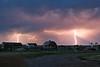 Farm Lightning (2007) - Lightning streaks through the rain near the town of Choteau, Montana as a summer thunderstorm moves across the Montana plains.
