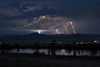 Lightning over Westcliffe (2007) - Summer Thunderstorms send lightning bolts streaking through the sky over the town of Westcliffe Colorado.
